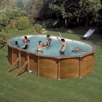 San Marina Pools - Kit De Piscina De Chapa Galápagos 610 X 375 X 120 Cm: Amazon.es: Deportes y aire libre
