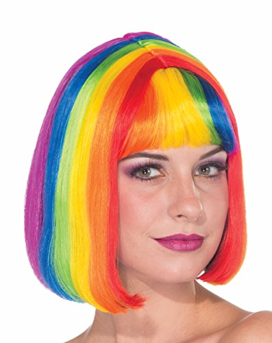 Hippie Chic Costumes (Forum Novelties Women's Chic Rainbow Wig, Rainbow, One Size)