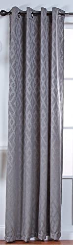 Stylemaster Home Products Kelly Lined Grommet Panel, 54 by 84-Inch, Pewter