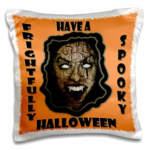 onepicebest Halloween Quotes - Have a frightfully Spooky Halloween- Funny Halloween Quotes- - 18x18 inch Pillow Case -