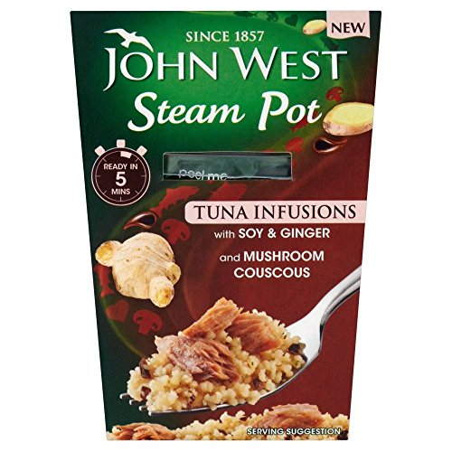 John West Steam Pot Tuna with Soy & Ginger & Couscous (150g) - Pack of 6 by John West
