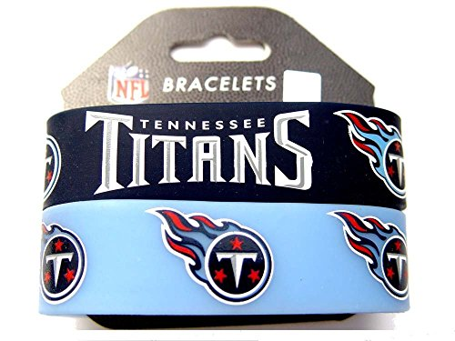NFL Tennessee Titans Silicone Rubber Bracelet, 2-pack