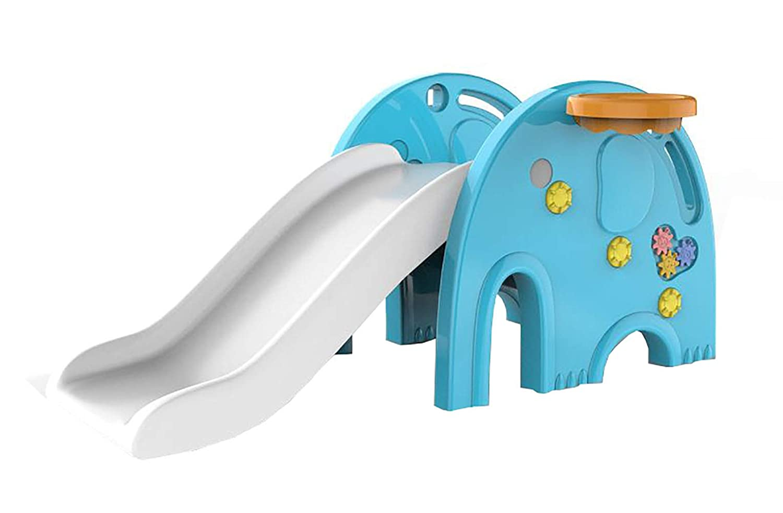 象 室内すべりだい 折りたたみ キッズ 子供 用 室内 屋外 簡単組立 工具不要 (ダークブルー) B07QTXTJ5Z ダークブルー