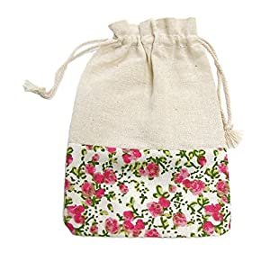 Linpeng 101413-02 12 Piece Floral Cotton Gift Pouch