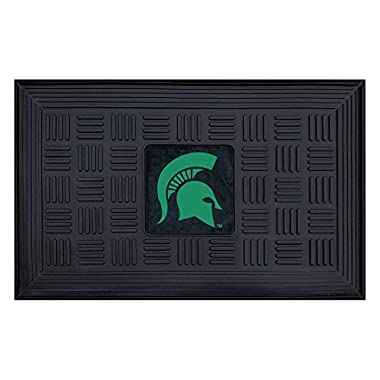 FANMATS NCAA Michigan State University Spartans Vinyl Door Mat