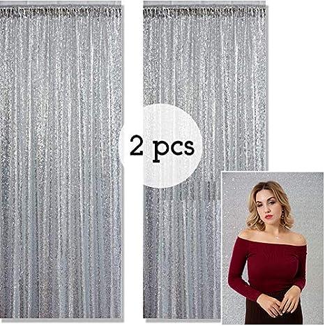 Kate Fotohintergrund Pailetten Silber Zwei Hochzeit Dekoration 1 25x2 2m 4x7ft Glitzer Photo Booth Hintergrund Festival