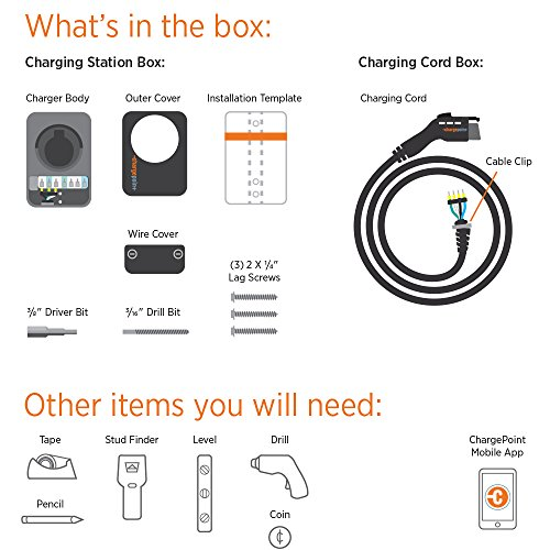 ChargePoint Home Electric Vehicle Charger: 32 Amp - EV Charging ...