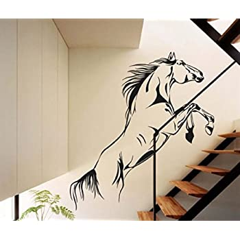 Amazoncom Large Animal Galloping Horses Right Face Wall Decal - Wall decals horses