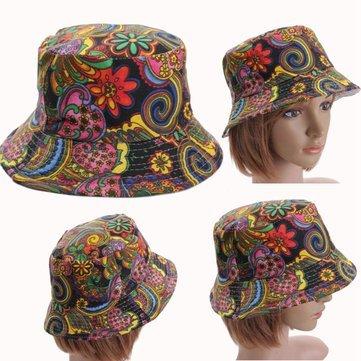 Travel Supplies - Women Bucket Sun Basic Hunting Fishing Outdoor Casual Sport Cap Floral Hat - Flowered Pail Chapeau - 1PCs