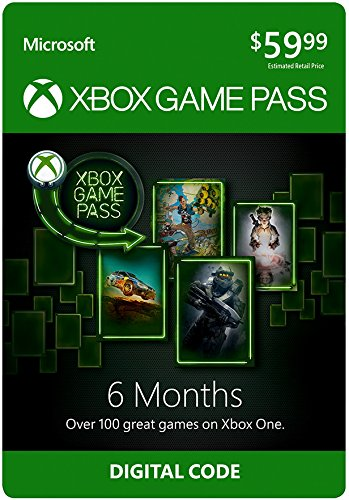 Xbox Game Pass - 6 Month Membership - Xbox One [Digital Code] by Microsoft Xbox