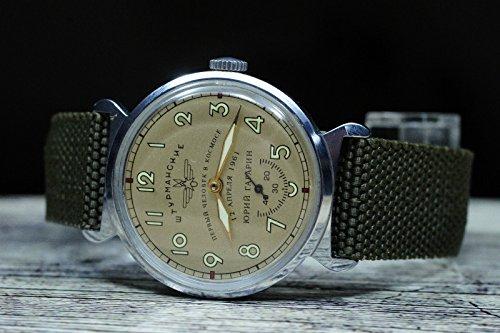 POBEDA Yuri Gagarin 1961 VERY RARE 0032 Mechanical Men's Wristwatch Made in USSR (Best Russian Made Watches)