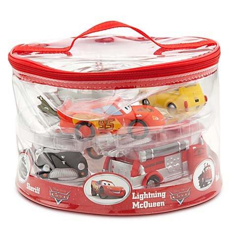 Disney Parks Exclusive Deluxe Cars 6 Piece Squeeze Toy Set