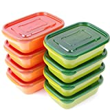 #10: 8-PACK Tenby Living Meal Prep Containers with Lids - Stackable Lunch Boxes and Portion Control Food Storage   Leak Resistant, Microwave & Freezer Safe   30 oz.