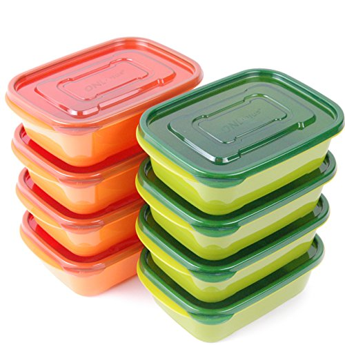 8-PACK Tenby Living Meal Prep Containers with Lids - Stackable Lunch Boxes and Portion Control Food Storage | Leak Resistant, Microwave & Freezer Safe | 30 oz.