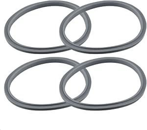 Feilifan Silicone Rubber Gaskets 4 Packs Blender Blade Replacement Parts For NutriBullet Pro 900w 600w Juicer Seal Ring for NutriBullet Extractor Blade Mixer Attachment No Leakage