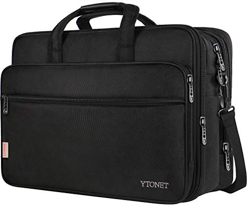 18 Inch Laptop Bag, Extra Large Briefcase for Men Women, Expandable Multifunctional Laptop Case, Water Resistant Computer Bags Fit 18 17.3 Inches Gaming Laptop, Notebook for Business Travel, - Paper Friction Folder