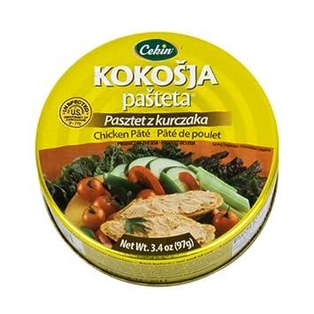 Cekin Kokosja Pasteta 5x97g5x34oz Delicious Chicken Pate Made In