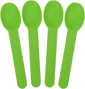 Disposable Birthday Party Spoons /& Ice Cream Spoon Green Plastic Gelato Spoons