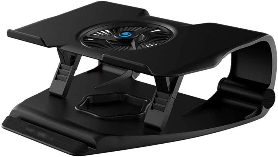 """CHENNAO Notebook Cooler Laptop Cooling Stand with RGB Backlighting 12"""" - 17"""" Gaming Laptop Cooling Pad for Desk USB Powered Fan Silent Exhaust Fan Lifts and Raises Shelf Laptop Cooler pad"""