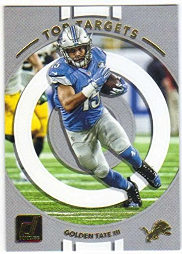 Lion Target - 2017 Panini Donruss Football Top Targets #11 Golden Tate III Lions