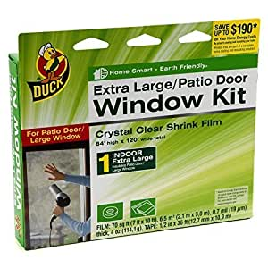 Duck Brand Kit de Aislante para interior Shrink ventana, (2unidades de ventana extra grande/Door-) Tamaño: Pack de 2Ventana extra grande/Door-, Modelo:, hardware Tools & Store