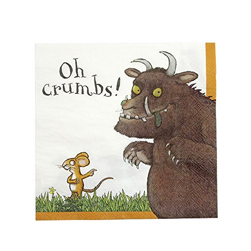 Talking Tables GRUFF-NAPKINV2 The Gruffalo Napkin (20 Pack), Multicolor, 33 x 33cm