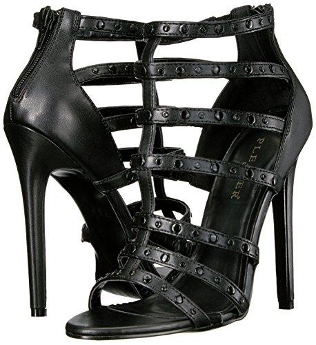 Leather 44 Sandali Pleaser Faux Donna Blk OqBnXw6Efx