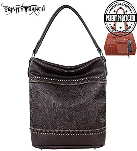 montana-west-tr20g-916-trinity-ranch-tooled-design-concealed-handgun-coffee-western-handbag-purse