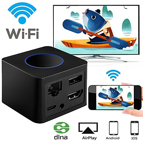 YEHUA Q2 WIFI Display Dongle, Wireless Screen Mirroring Adapter 1080P Video Receiver Mini Display Receiver HD AV Dual Output Support Airplay DLNA Miracast for iOS /Android/TV/Projector … by Yehua (Image #6)