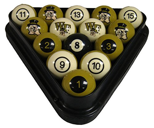 NCAA Wake Forest Demon Deacons Numbered Pool Balls Set - College Billiards by wave