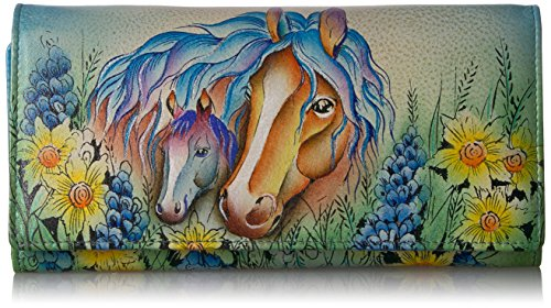 Anuschka Anna By Anuschka Handpainted Leather Women's Three Fold Wallet (Anuschka Purse)