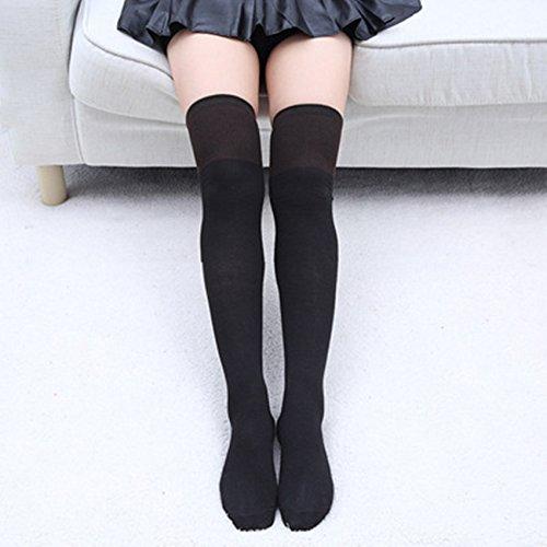 per coscia banda ragazze alti tripla 2 coppie nero calze ginocchio calzini SwirlColor della ztxAPwq6aq