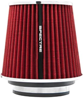 High Flow Round Tapered Universal Air Intake Cone Filter Chrome Car//Truck//SUV