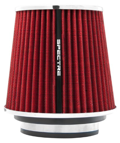 Spectre Performance 8132 Universal Clamp-On Air Filter: Round Tapered; 3 in/3.5 in/4 in (102 mm/89 mm/76 mm) Flange ID; 6.719 in (171 mm) Height; 6 in (152 mm) Base; 4.75 in (121 mm) Top