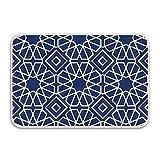 farg Door Mat Islamic Geometric Bathroom Rug Inside Floor mat Gripper Premium Non Slip