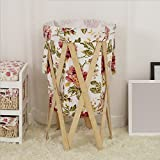 Lqchl Laundry Basket, Folding Cloth Art, Bathroom Storage Basket, Household Laundry Basket,B