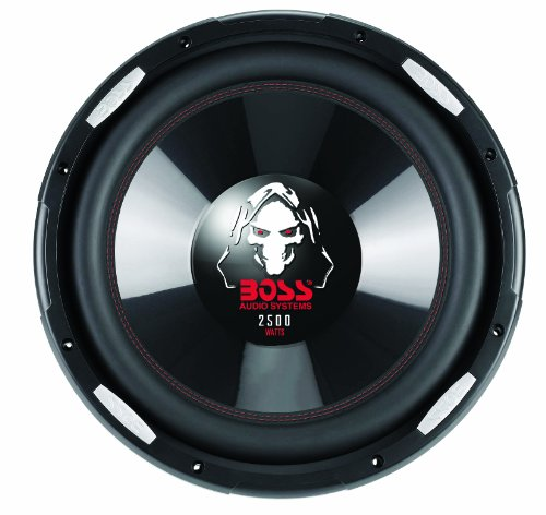 BOSS Audio P156DVC 2500 Watt, 15 Inch, Dual 4 Ohm Voice Coil Car Subwoofer