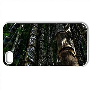 bamboo forest hdr - Case Cover for iPhone 4 and 4s (Forests Series, Watercolor style, White)
