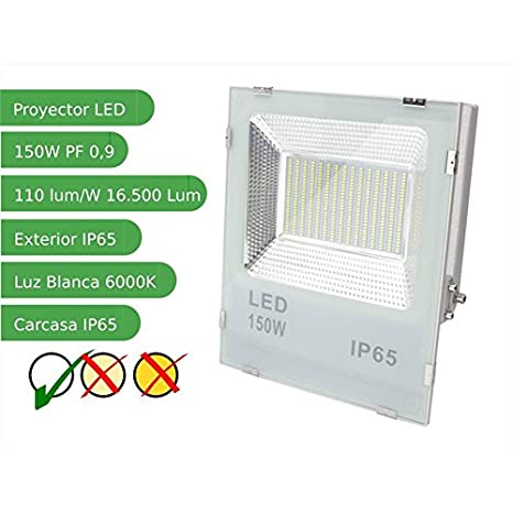 Jandei - Proyector led slim 150W exterior IP65 SMD5730 6000K ...