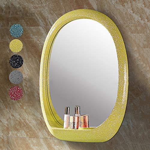 BGJZ Bathroom Wall Mirror Vanity Mirror Makeup Mirror Framed Mirror DIY Creative -
