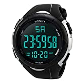 DOLDOA Mens Sport Outdoor Digital Multifunction Waterproof Watches,Sale Clearance (White)
