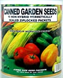Food Storage Vegetable Garden Seed Kit-1.4 Lbs of Emergency Survival Gardening Seeds-16 Types of Non-Hybrid, Open-Pollinated Seeds