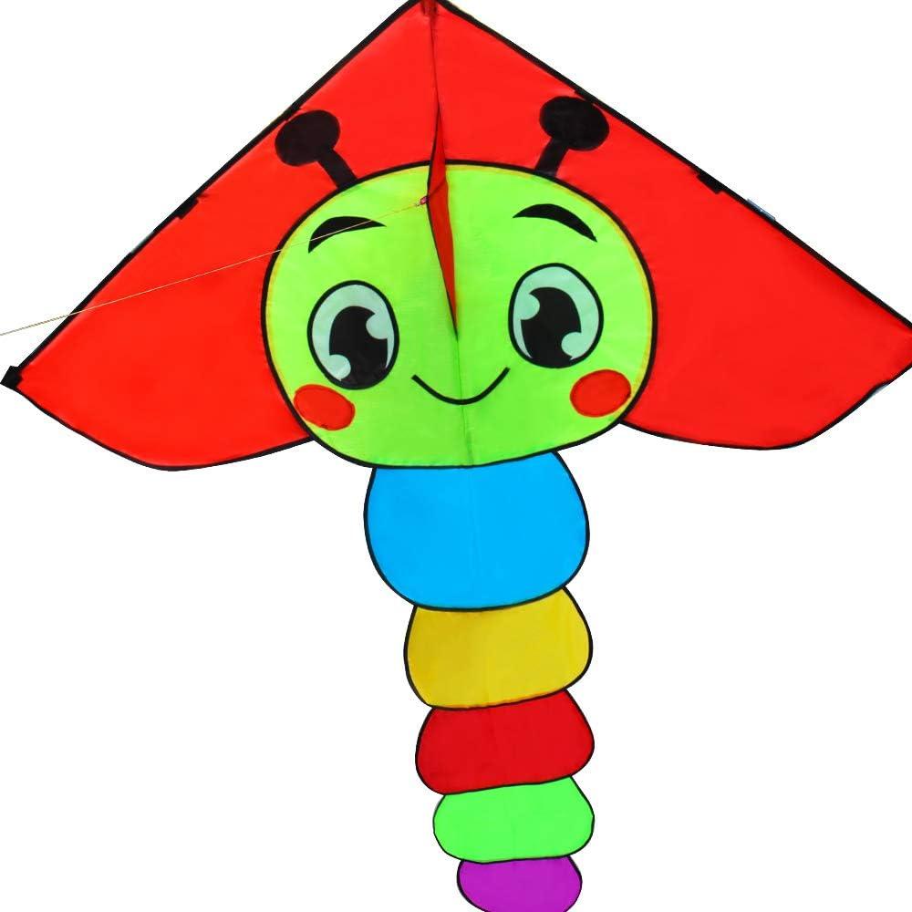 Amazon Com Hengda Kite For Kids Cartoon Caterpillar Kite Single