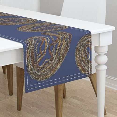 Table Runner - Niihau Shells Hawaii Native Hawaiian Indigenous by Honoluludesign - Cotton Sateen Table Runner 16 x 72