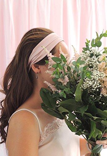 Oyster Pink silk satin headband ()