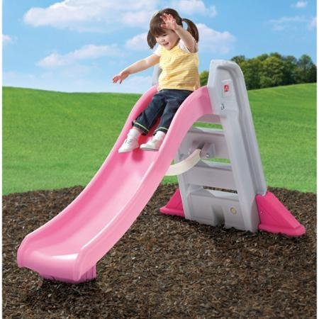 Discover Bargain Step2 Big Folding Slide, Pink, Plastic Slide and High-Side Rails