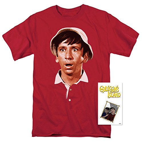 Popfunk Gilligan's Island TV Show Gilligan Surprised Face T Shirt and Exclusive Stickers (X-Large)