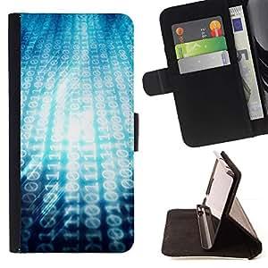 Momo Phone Case / Flip Funda de Cuero Case Cover - 00101101 Ascii Código Binari - Samsung Galaxy S5 Mini, SM-G800