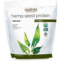 Nutiva Organic Hemp Seed Protein Powder, Hi-Fiber & 10g Protein, 3 Pound Bag