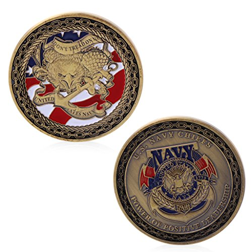 Beioust Gold Plated U.S. Navy Chiefs Commemorative Challenge Coin Physical Collection